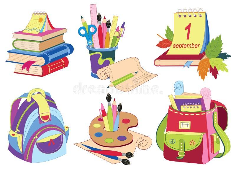 Download Schoolpictogrammen vector illustratie. Illustratie bestaande uit illustratie - 39103631