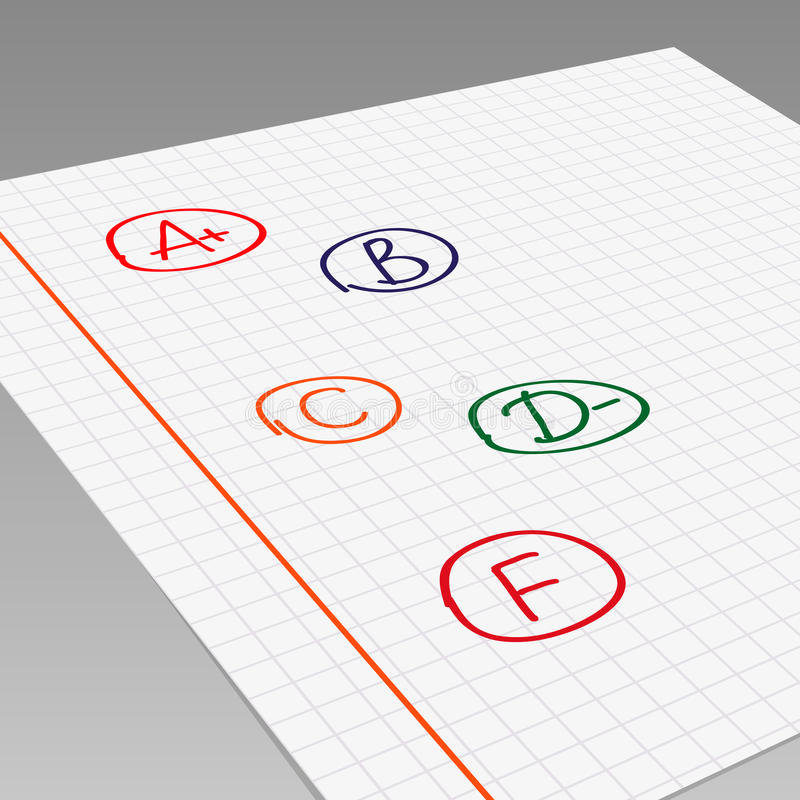 Schoolrangen vector illustratie