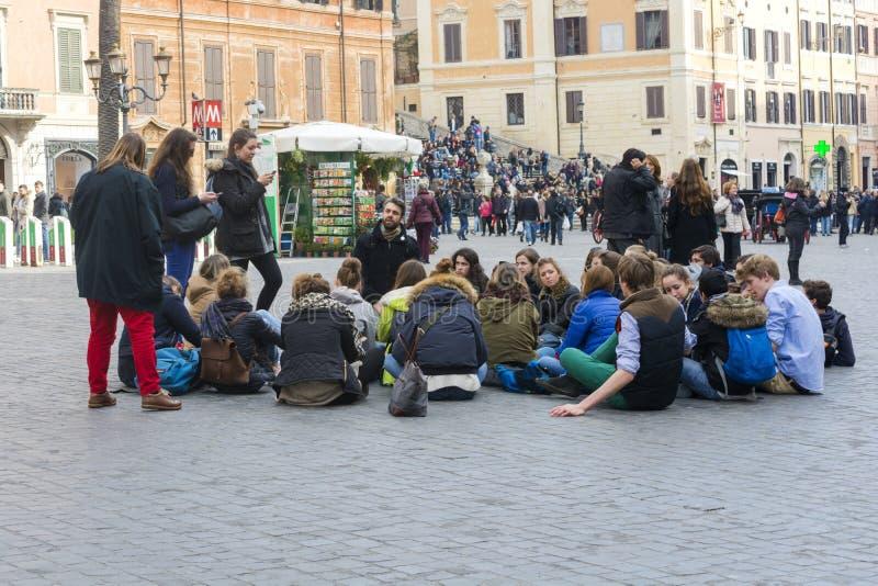Schoolreis aan Rome royalty-vrije stock foto's