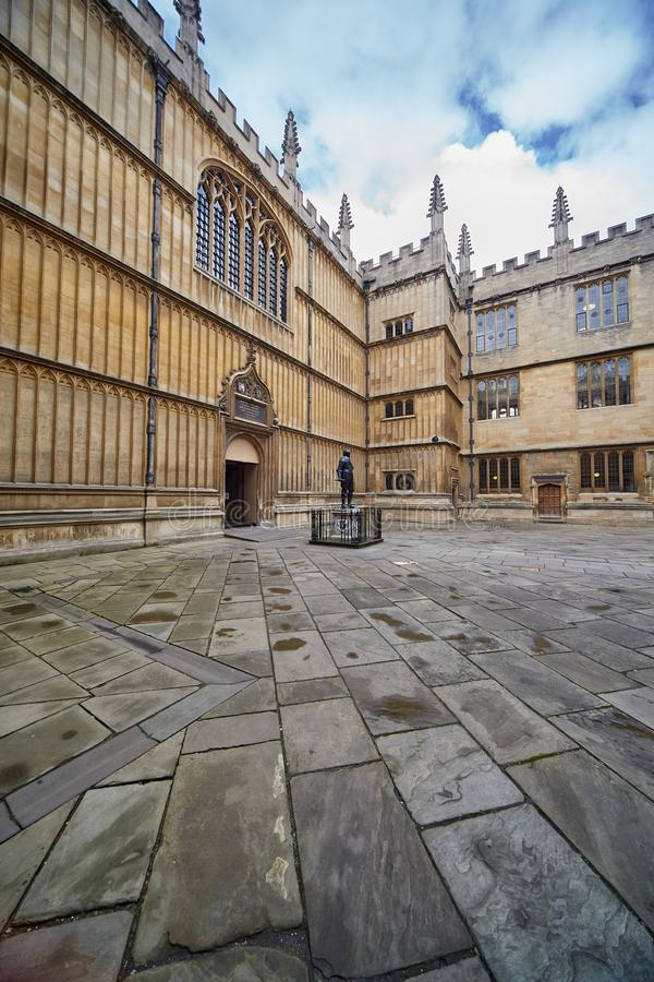 Schools Quadrangle of Bodleian Library. University of Oxford. Oxford. England royalty free stock photos