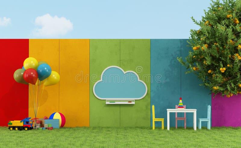 Schoolspeelplaats voor kinderen stock illustratie