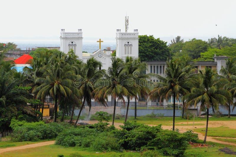 Schoolst Kerken (de Kerk van Ecole St) Toamasina, Madagascar stock fotografie