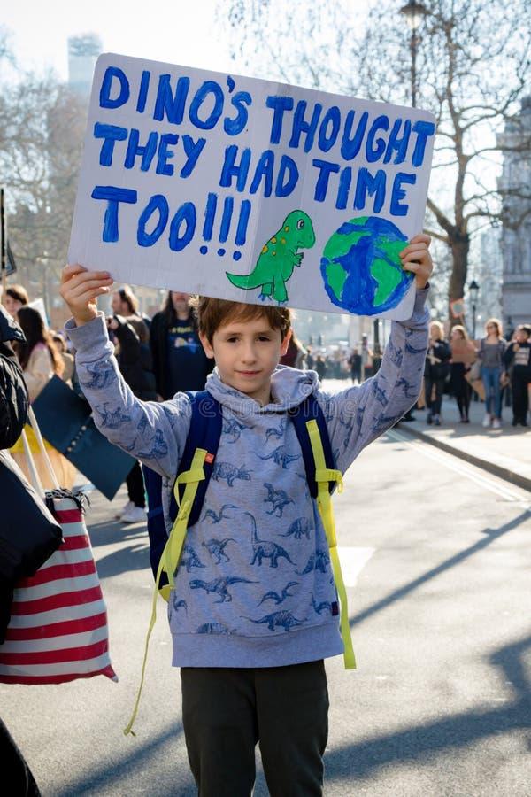 Schoolstaking voor Klimaatverandering stock fotografie