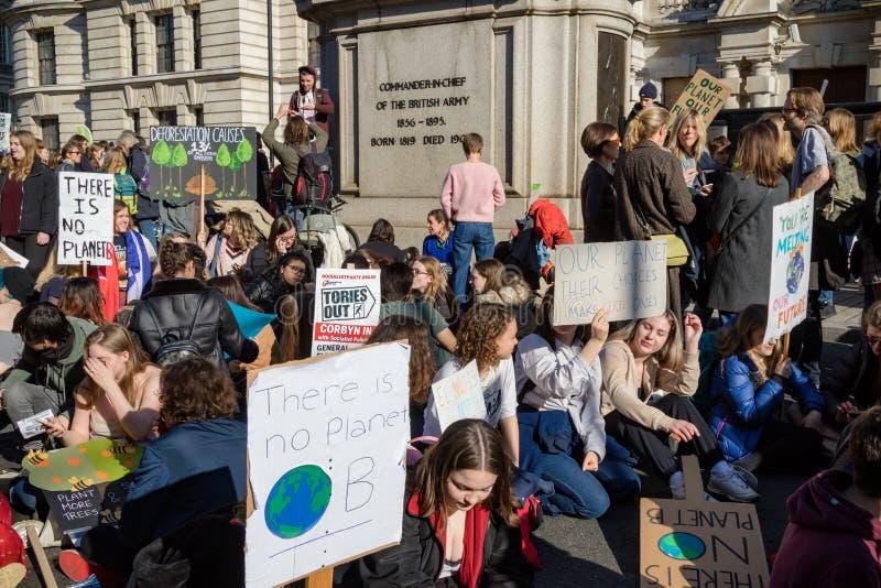 Schoolstaking voor Klimaatverandering stock afbeelding