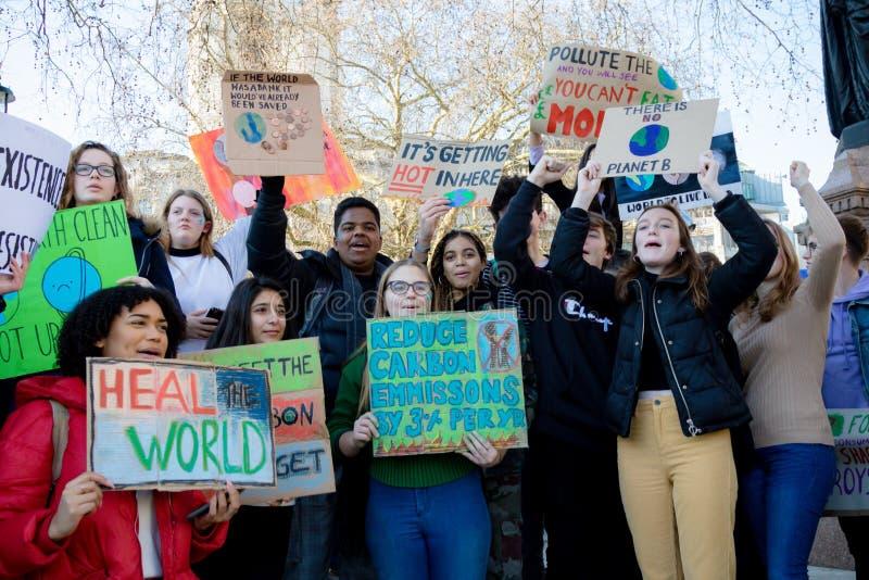Schoolstaking voor Klimaatverandering royalty-vrije stock afbeeldingen