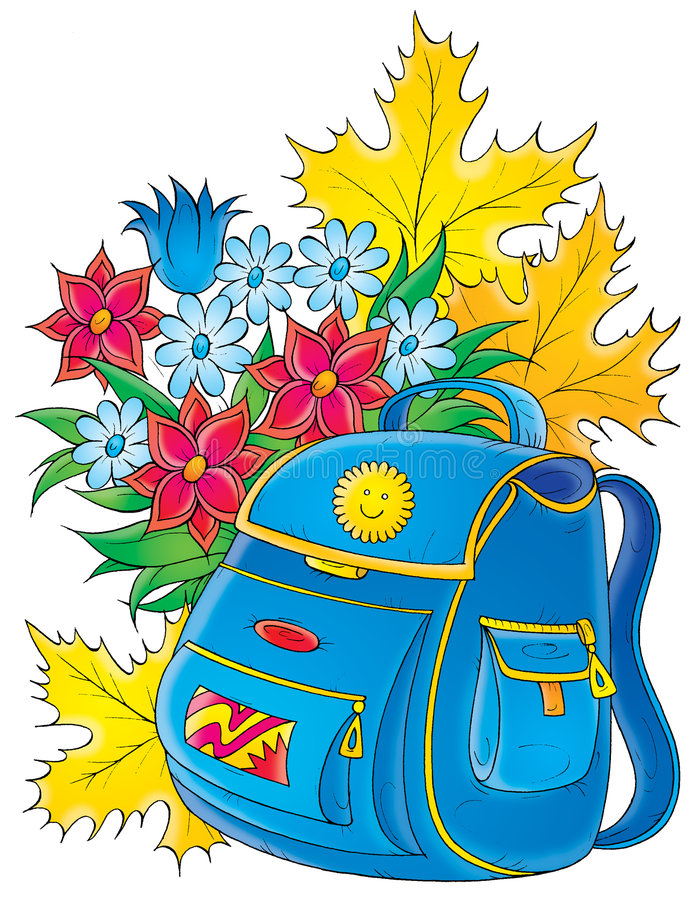 Schooltas royalty-vrije illustratie
