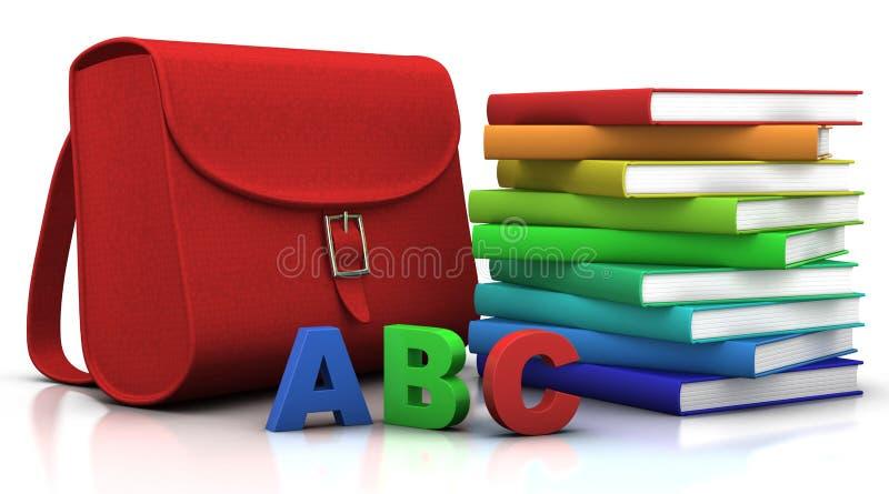 Schooltas en ?schultuete? en ABC stock illustratie