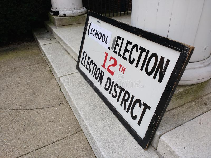 Schoolverkiezing, Verkiezingsdistrict, Rutherford, NJ, de V.S. stock foto's