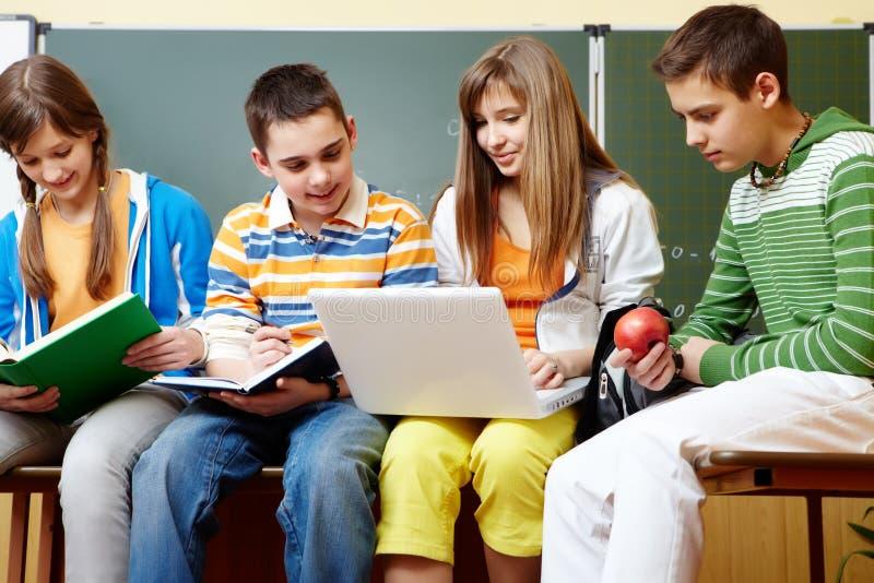 Schoolwork royalty-vrije stock afbeeldingen