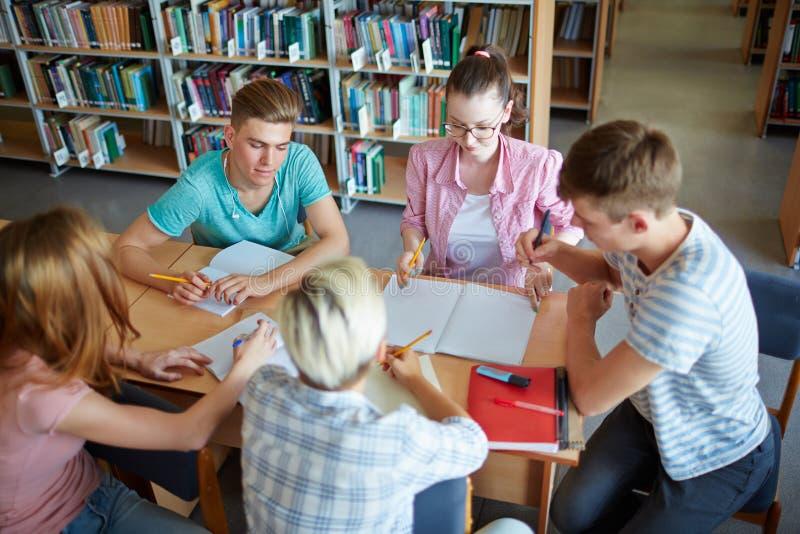schoolwork stock afbeelding