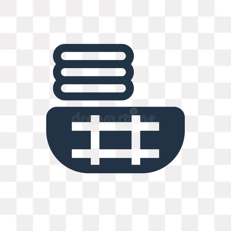 Schoon kleren vectordiepictogram op transparante achtergrond, Cl wordt geïsoleerd vector illustratie