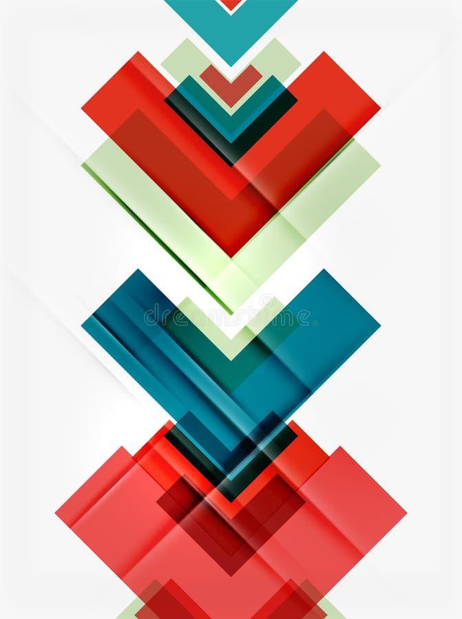Schoon kleurrijk ongebruikelijk geometrisch patroonontwerp vector illustratie