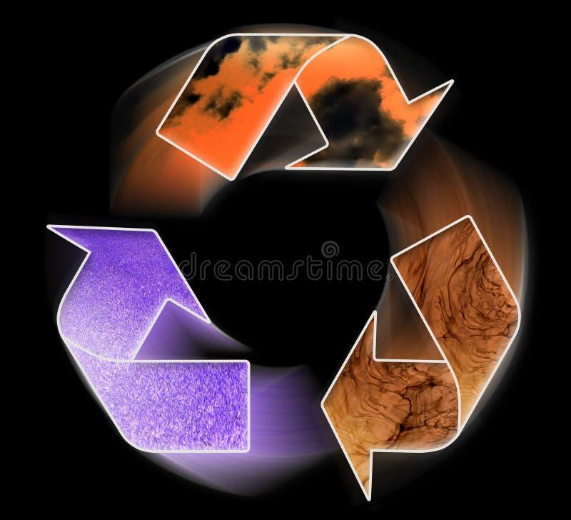 Schoon milieu - conceptueel recyclingssymbool vector illustratie