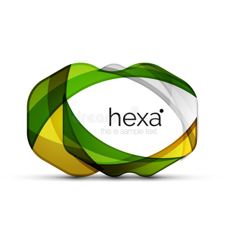 Schoon professioneel hexagon vorm bedrijfsembleem royalty-vrije illustratie