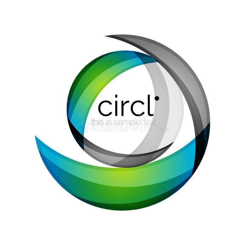 Schoon professioneel kleurrijk cirkel bedrijfspictogram stock illustratie