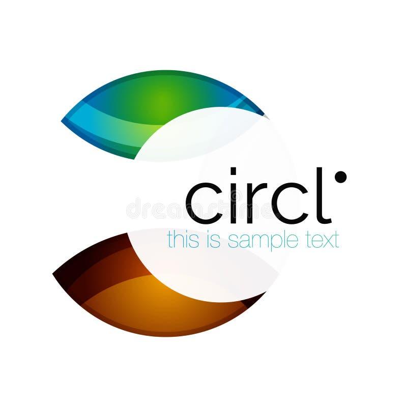 Schoon professioneel kleurrijk cirkel bedrijfspictogram vector illustratie