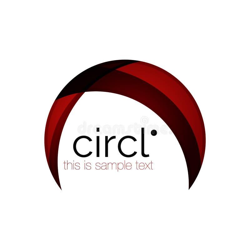 Schoon professioneel kleurrijk cirkel bedrijfspictogram royalty-vrije illustratie