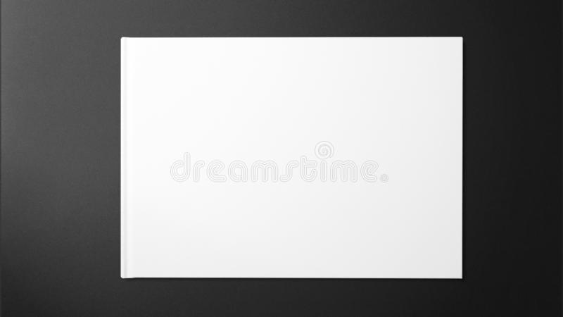 Schoon wit canvas op donkere grijze achtergrond royalty-vrije stock foto