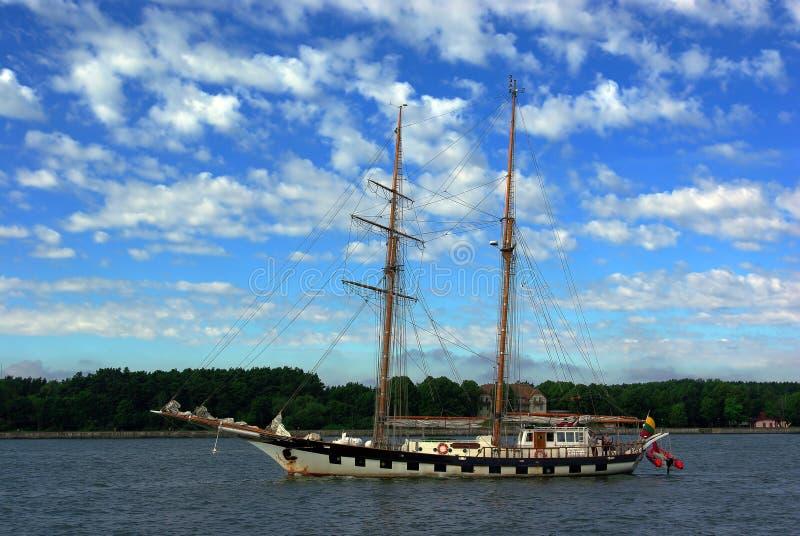 Schooner de Topsail. foto de stock