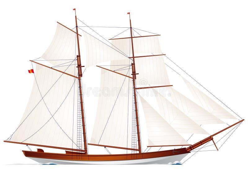 Schooner. Sailboat. Sailing Vessel Stock Photos
