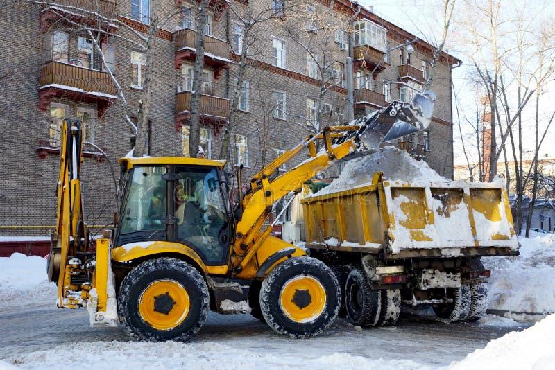 Schoongemaakte sneeuw royalty-vrije stock foto