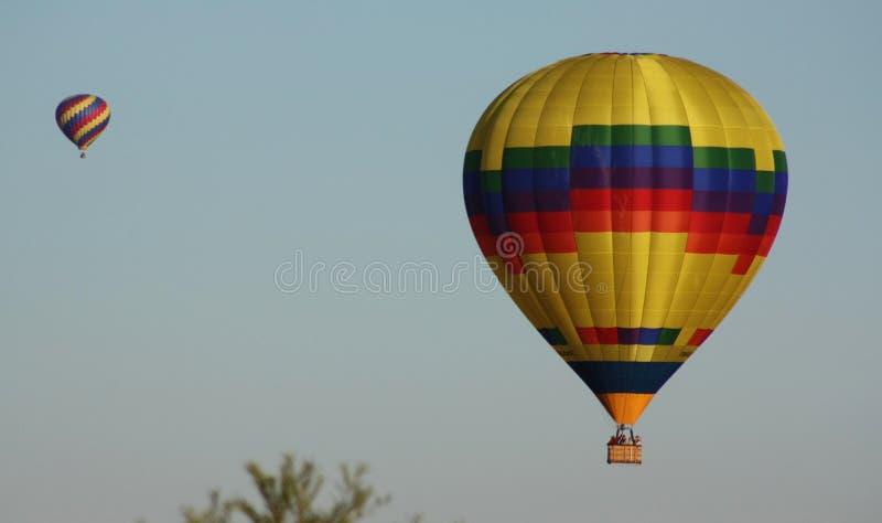 Schoonheid in de hemel tijdens Albuquerque bij de Internationale de Ballonfiesta van Albuquerque stock fotografie
