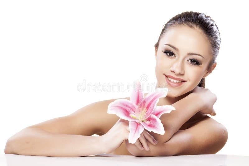 Schoonheid en bloem stock fotografie