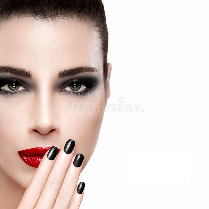 Schoonheid en make-upconcept stock afbeeldingen