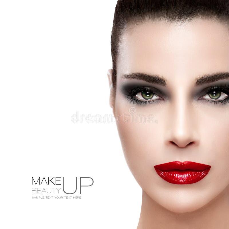 Schoonheid en make-upconcept royalty-vrije stock afbeeldingen