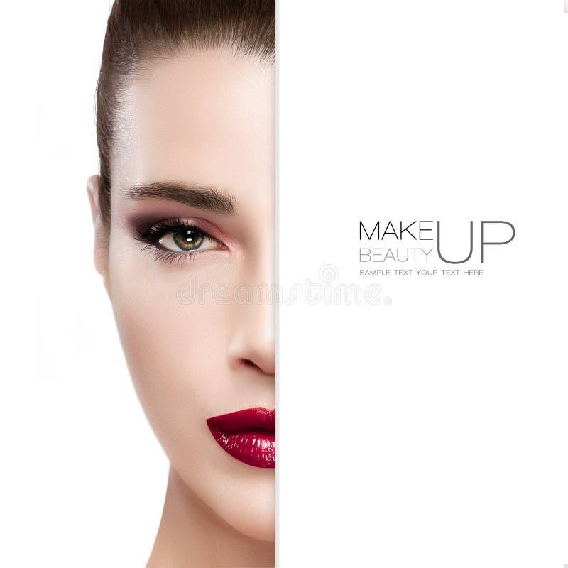 Schoonheid en make-upconcept stock foto