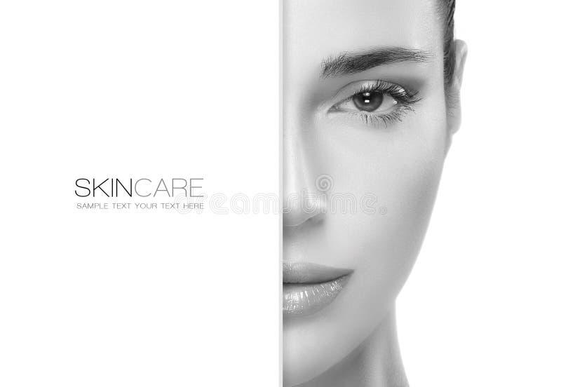 Schoonheid en skincare concept malplaatjeontwerp stock afbeeldingen