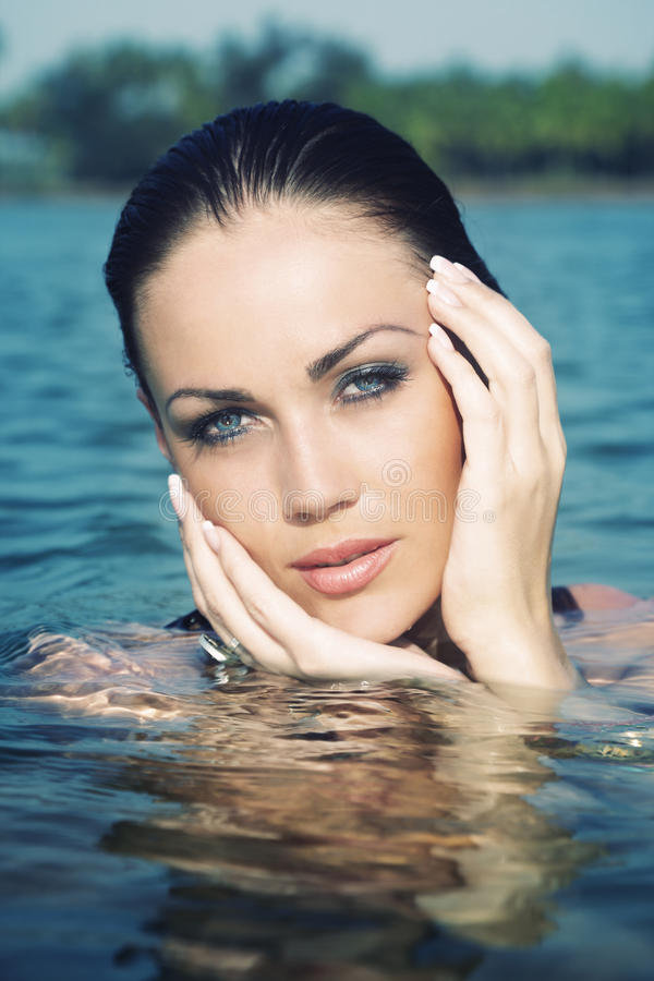 Schoonheid in het water royalty-vrije stock foto's