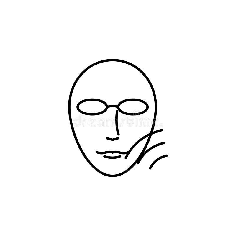 Schoonheid, kosmetische huid, ultrapictogram Element van schoonheid en anti het verouderen pictogram voor mobiel concept en Web a royalty-vrije illustratie