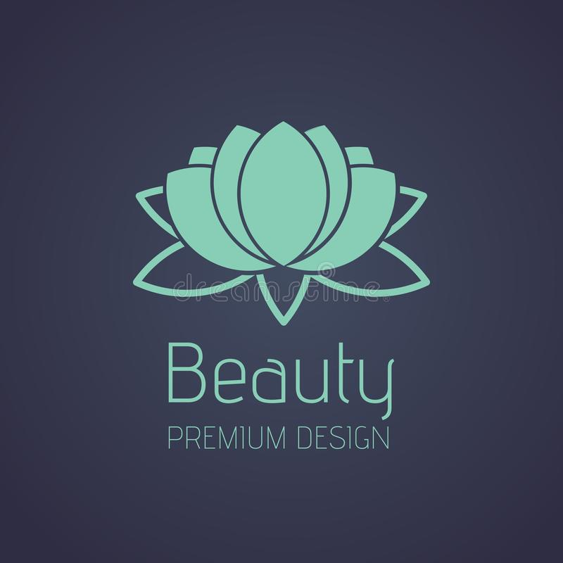 Schoonheid Lotus Logo royalty-vrije stock foto's