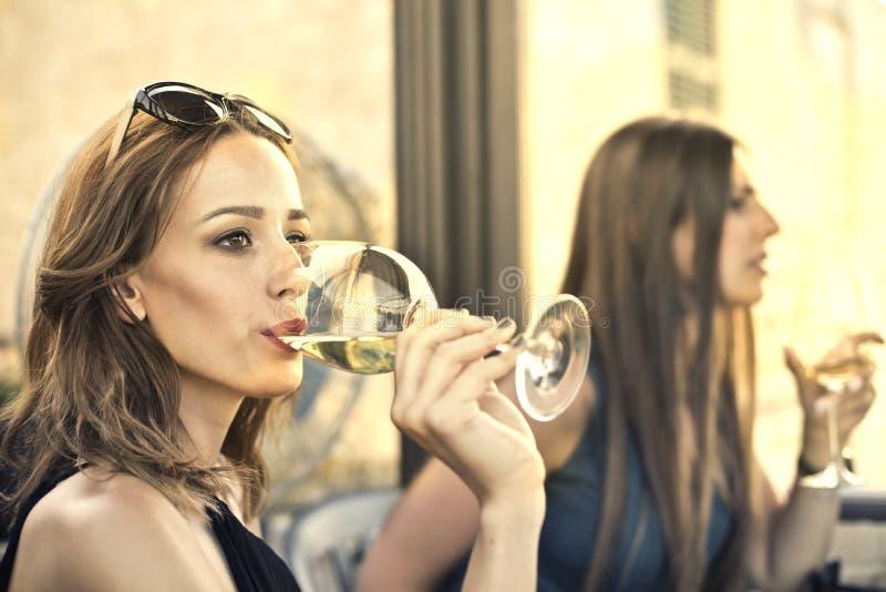 Schoonheid met wijnstok royalty-vrije stock afbeeldingen