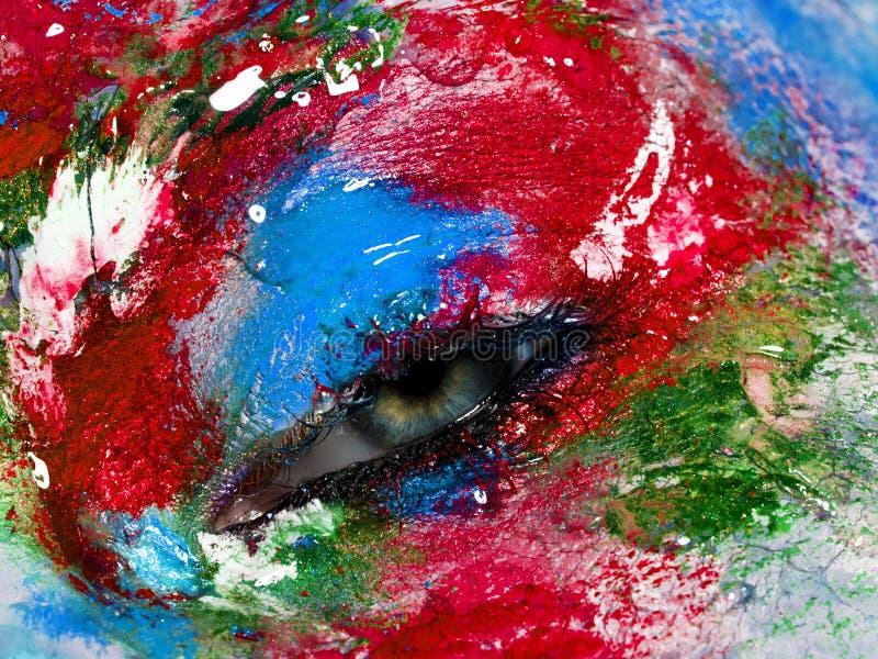 Schoonheid, schoonheidsmiddelen en make-up Heldere creatieve Samenstelling stock afbeeldingen