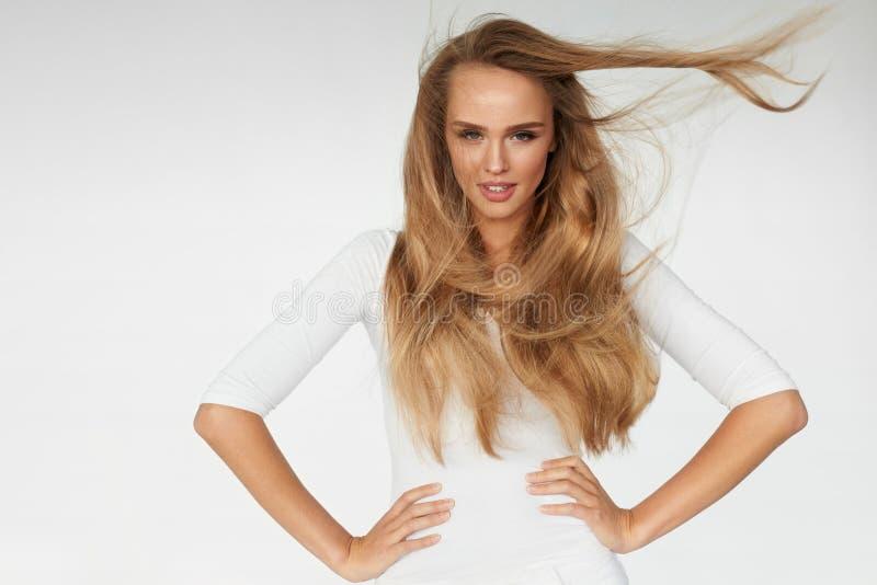 schoonheid Sexy het Blondehaar van Vrouwen Modelwith beautiful long stock foto's