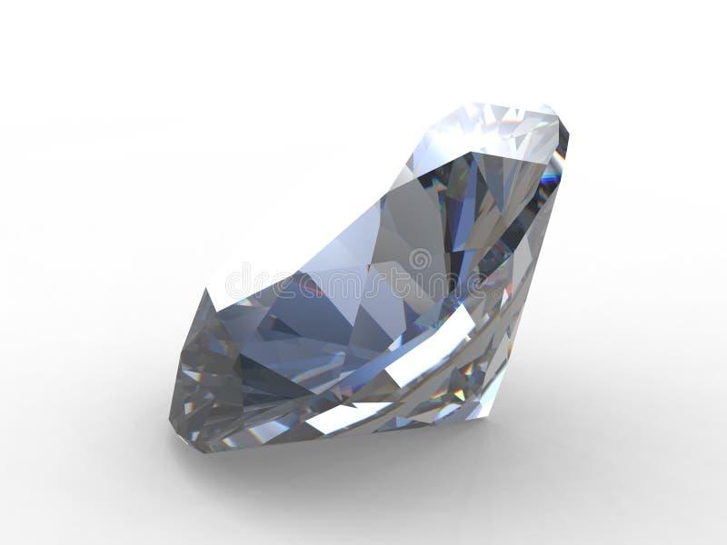Schoonheid van grote ronde diamant stock illustratie