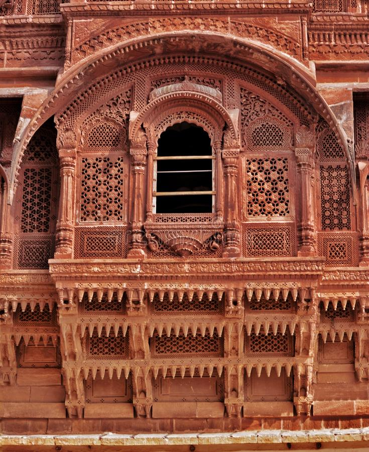 Schoonheid van het Indische paleis van de erfenisstad, Jaipur stock afbeelding