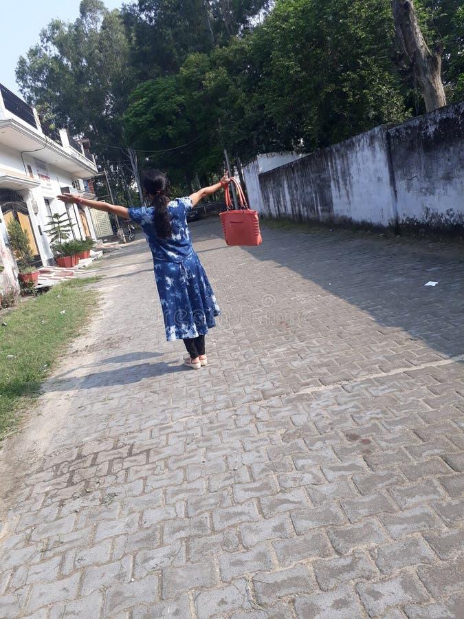 Schoonheid van Indisch meisje stock afbeeldingen