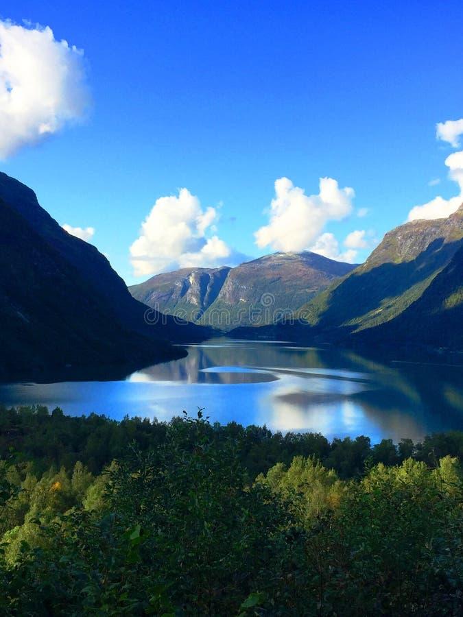 Schoonheid van Noorwegen stock afbeelding