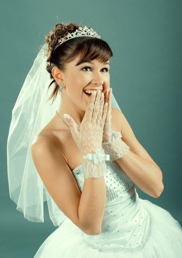 Schoonheids jonge bruid royalty-vrije stock afbeelding