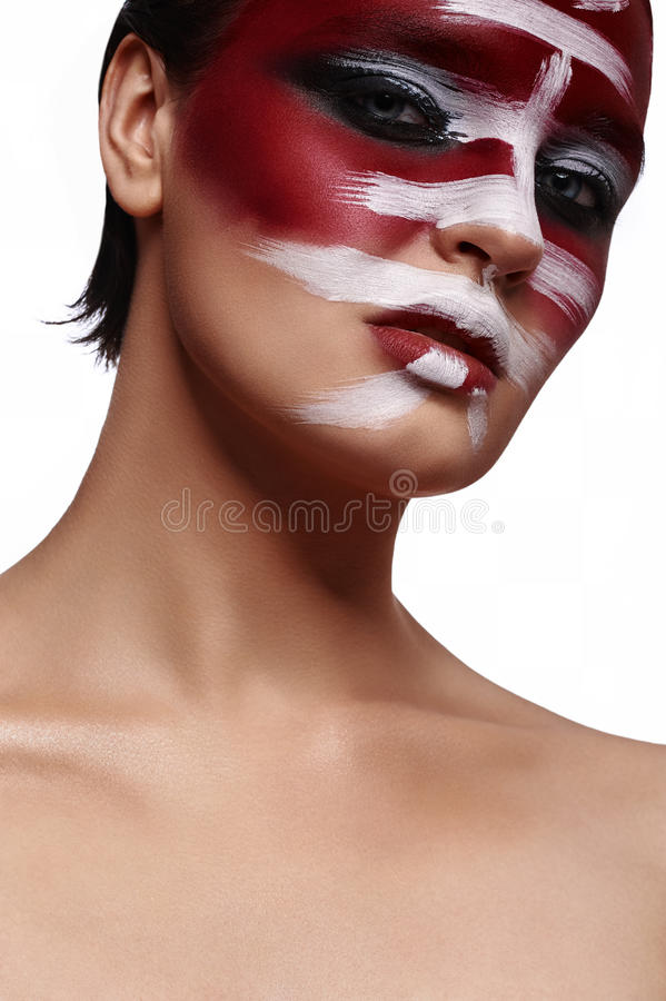 Schoonheids jonge Vrouw met perfecte glanzende Huid stock foto