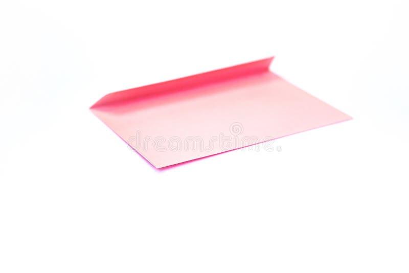 Schoonheids roze envelop; het brandmerken spot omhoog; vooraanzicht royalty-vrije stock fotografie