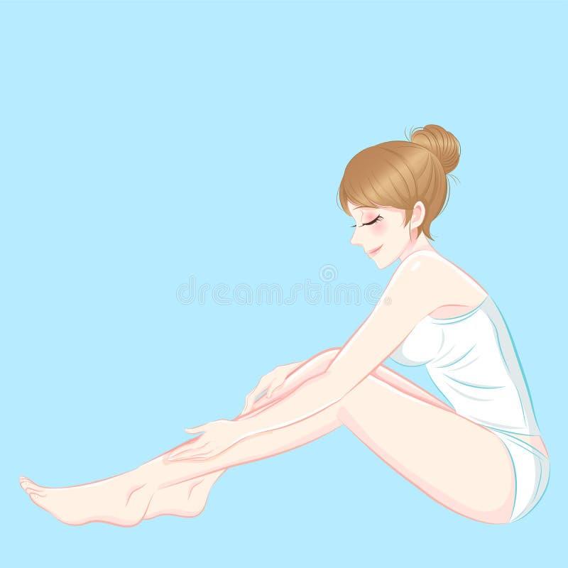 Schoonheids skincaare vrouw stock illustratie