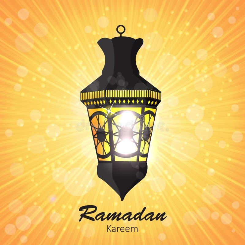Schoonheidsachtergrond voor Moslim Communautair Festival royalty-vrije illustratie