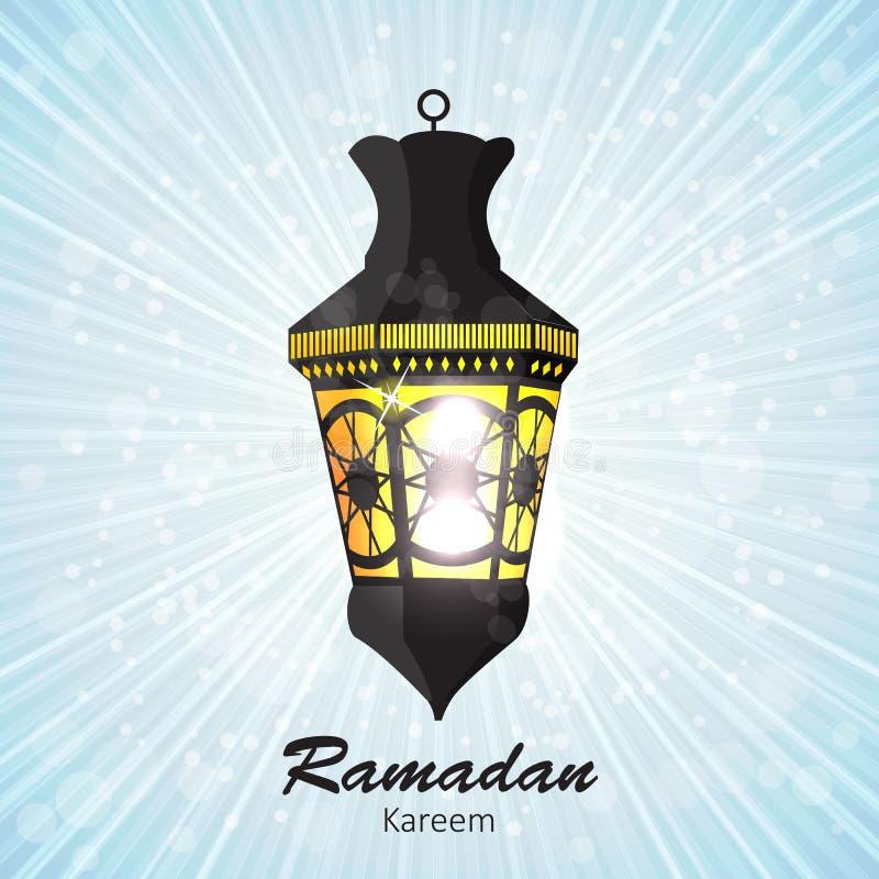 Schoonheidsachtergrond voor Moslim Communautair Festival stock illustratie