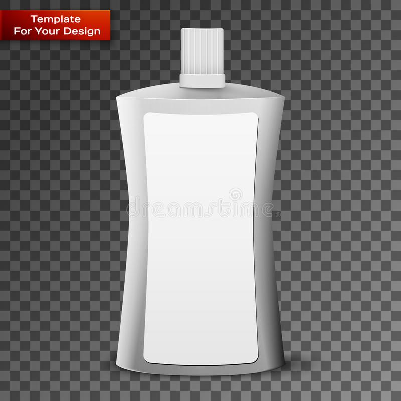Schoonheidsmiddel of Hygiëne Plastic Fles royalty-vrije illustratie