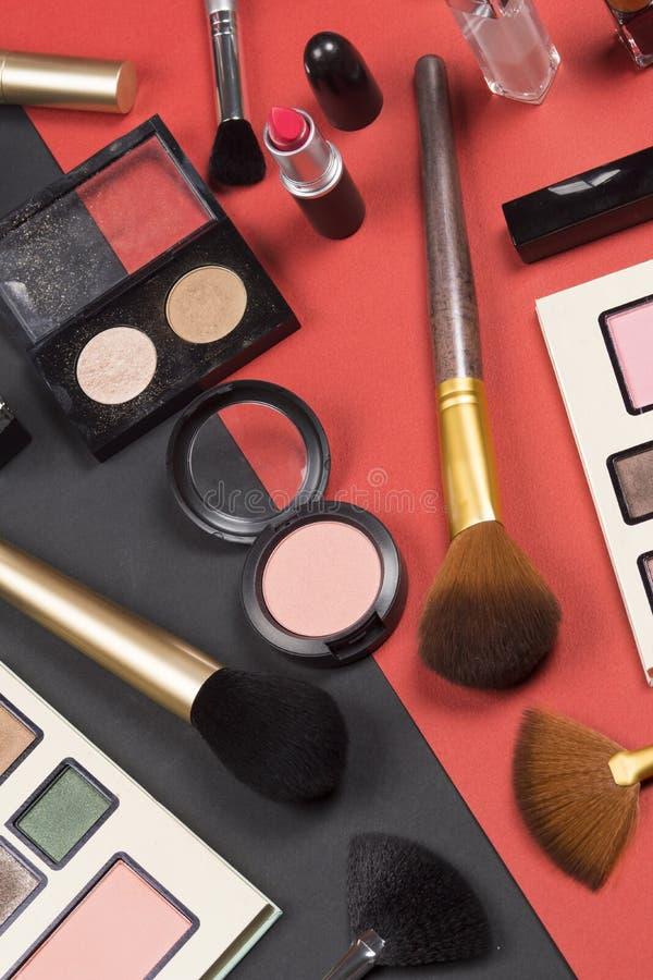 Schoonheidsmiddelen en het beeld van de make-up hoge resolutie stock afbeelding