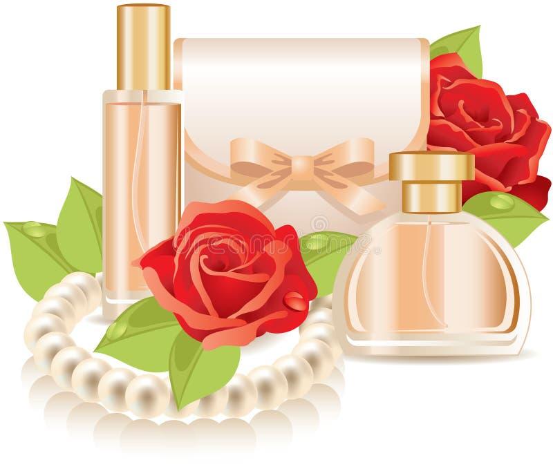Schoonheidsmiddelen (parfum) royalty-vrije illustratie